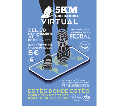 La edición virtual de 5KM Solidarios sigue sumando seguidores a su causa