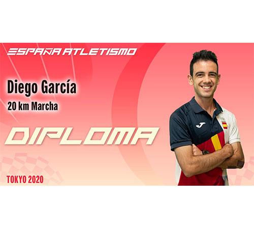 Diploma olímpico para Diego García Carrera en Tokyo 2020 gracias a su sensacional sexto puesto
