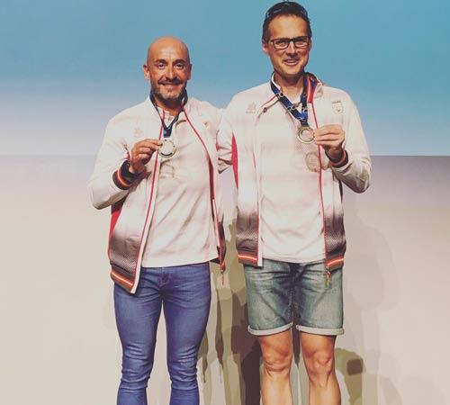 Jesús Celada, campeón del Mundo de dutalón de larga distancia