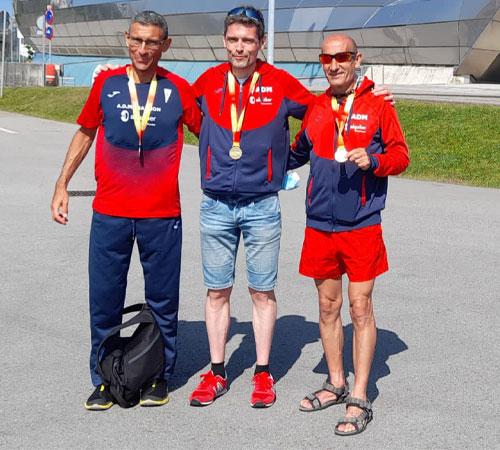 Tres medallas en el Nacional de 50 km Máster