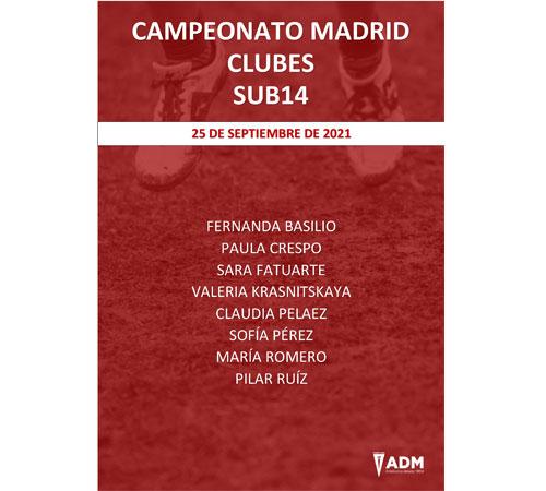 AD Marathon en el Campeonato de Madrid Clubes Sub14
