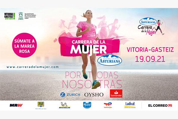 La Marea Rosa vuelve a Vitoria – Gasteiz el 19 de septiembre: ¡Inscripciones abiertas para la Carrera de la Mujer física y virtual!