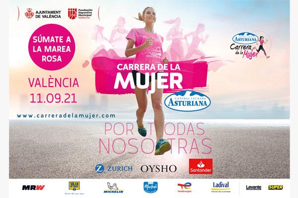 Abiertas las inscripciones para la Carrera de la Mujer Central Lechera Asturiana de València del 11 de septiembre