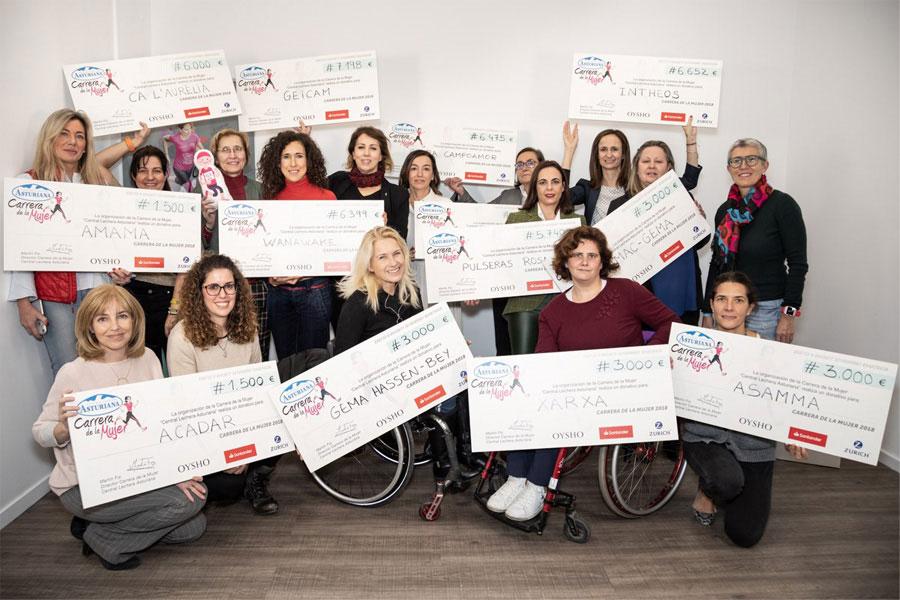 La Carrera de la Mujer dona 164.964€ en 2019