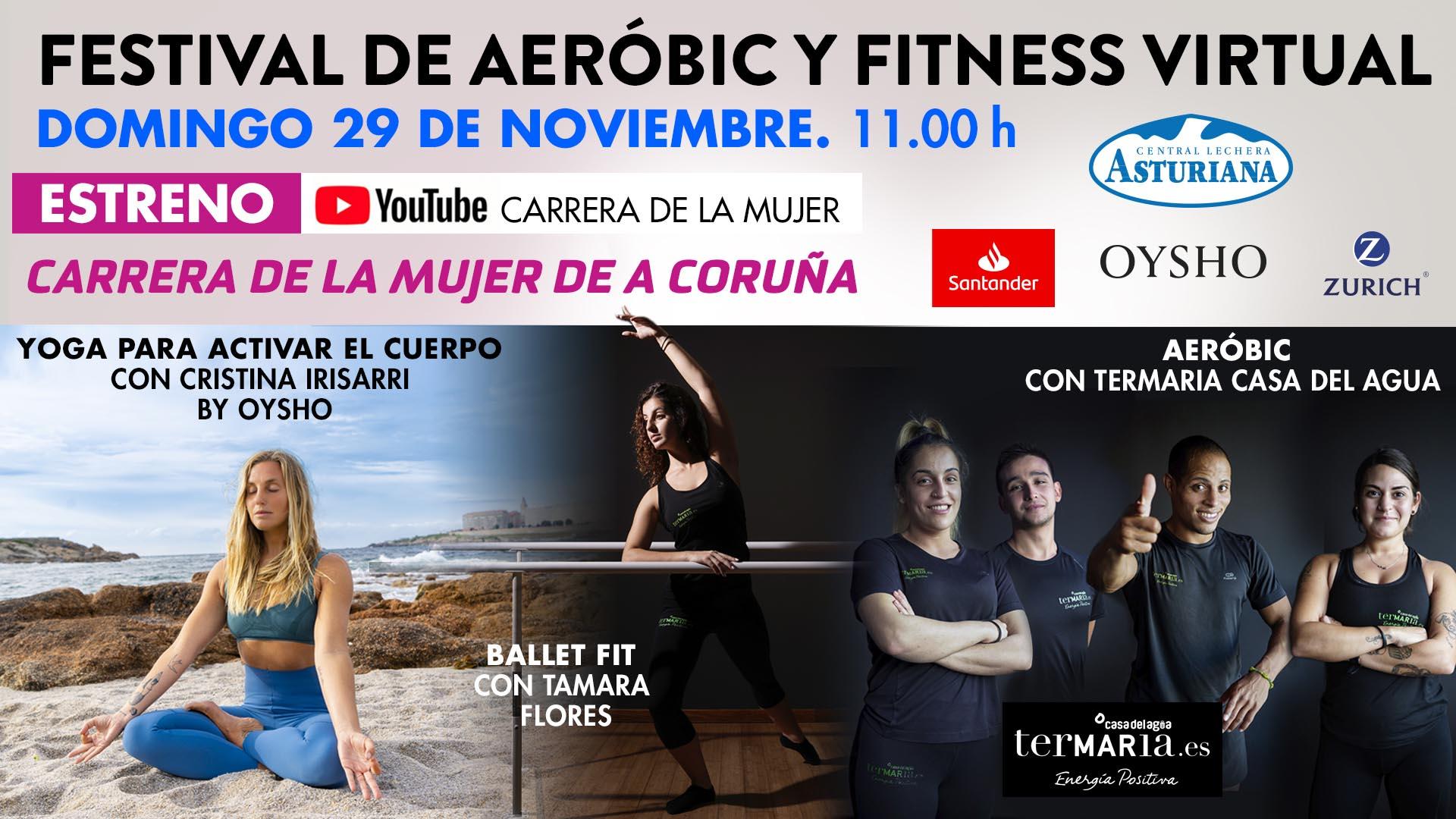 ¡No te pierdas el último festival de aeróbic y fitness de la Carrera de la Mujer Virtual 2020!