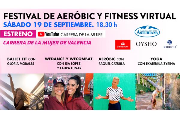 Llega el primer festival de aeróbic y fitness de la Carrera de la Mujer Virtual