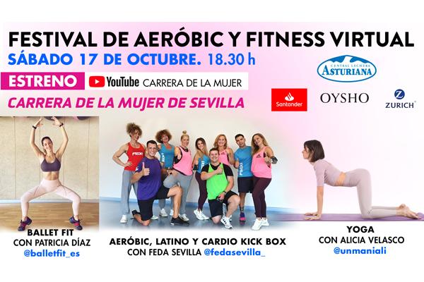 ¡Llega el festival de aeróbic y fitness de la Carrera de la Mujer de Sevilla!
