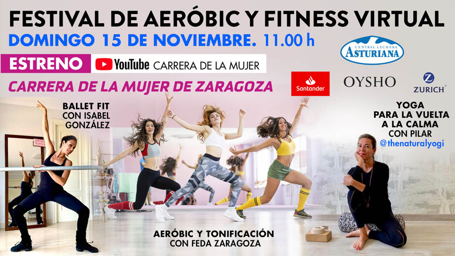 ¡El festival de aeróbic y fitness de la Carrera de la Mujer llega a Zaragoza!