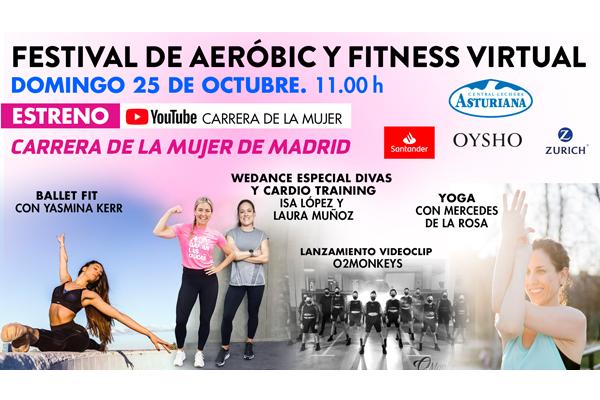 ¡No te pierdas el festival de aeróbic y fitness de la Carrera de la Mujer de Madrid!
