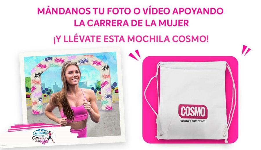 COSMO sortea 20 mochilas durante la Carrera de la Mujer en A Coruña y Madrid