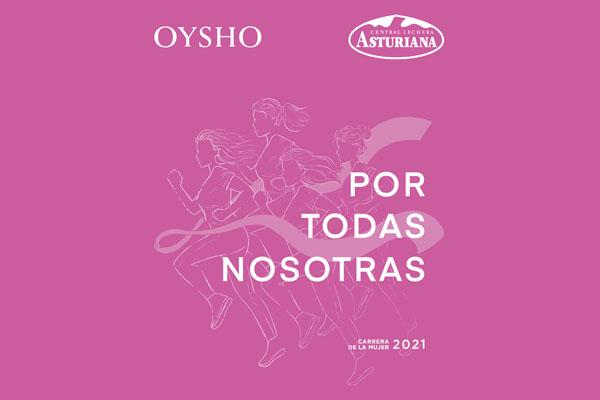 La Carrera de la Mujer Central Lechera Asturiana presenta su nueva camiseta Oysho para las carreras de 2021