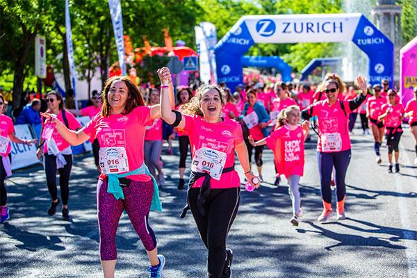 La Z Zurich Foundation aportará el 50% de las donaciones de la Marea Rosa a los proyectos solidarios de la Carrera de la Mujer Virtual