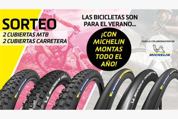 ¡Participa en el sorteo de neumáticos MICHELIN para tu bici de carretera y montaña!