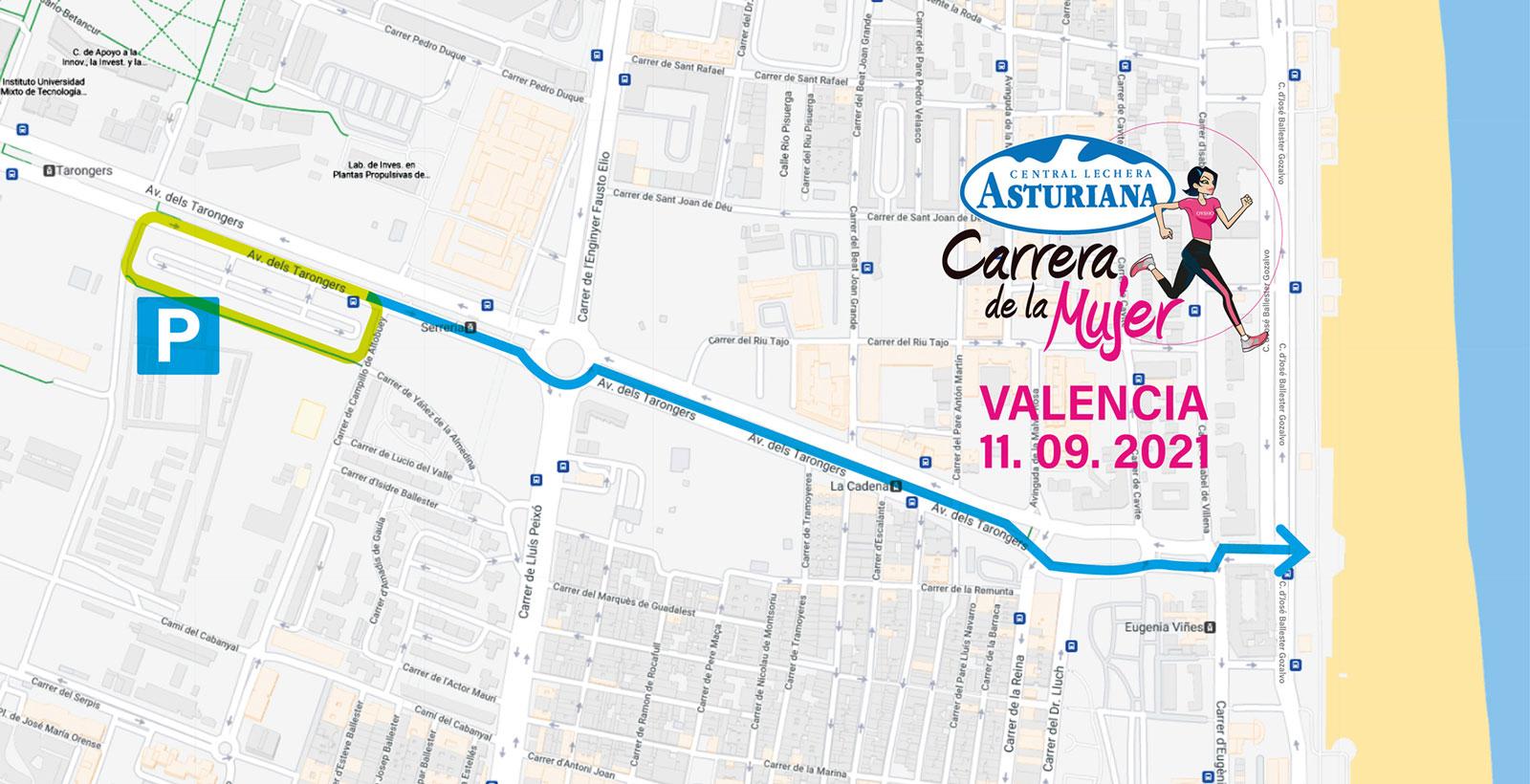 recorrido Carrera de la Mujer 2021 en Valencia