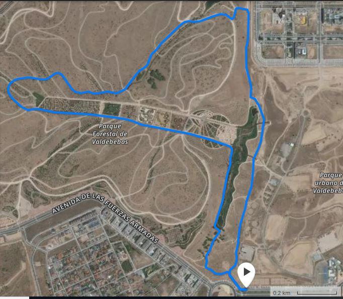 Recorrido carrera de 5,2km y 10,4km