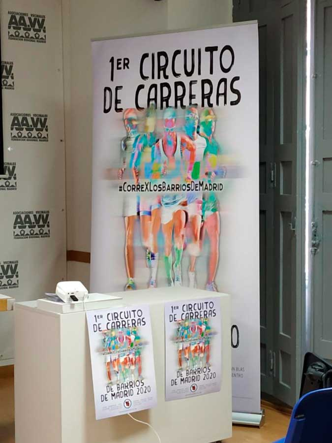 PRESENTACIÓN DEL I CIRCUITO DE CARRERAS DE BARRIO DE MADRID 2020