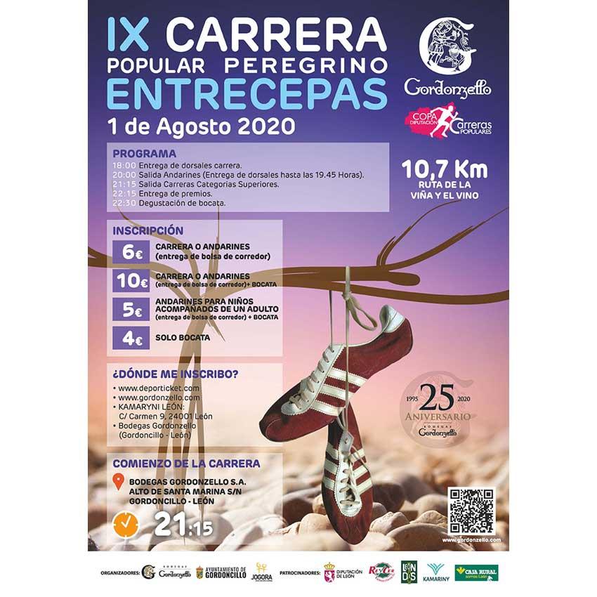 La Carrera popular Peregrino Entrecepas Bodegas Gordonzello estrena la Copa 2020