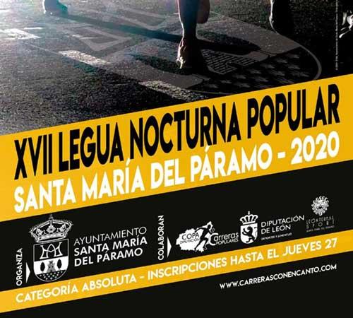 La Legua Nocturna de Santa María del Páramo abre inscripciones