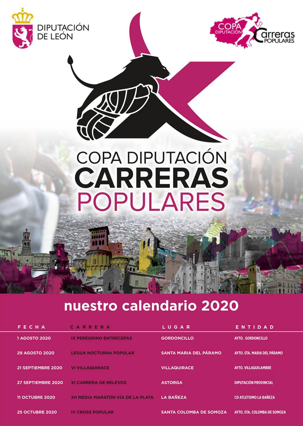 La X Copa Diputación de Carreras Populares ya tiene calendario