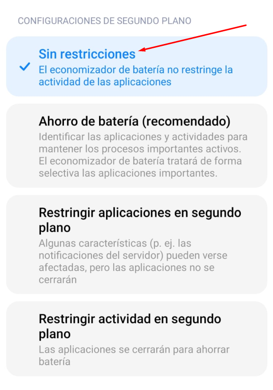 Guía visual de permisos para Android