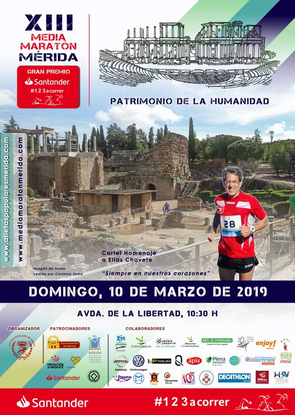 Cartel Media Maratón de Mérida