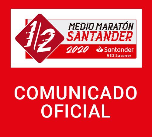 Comunicado oficial Medio Maratón de Santander