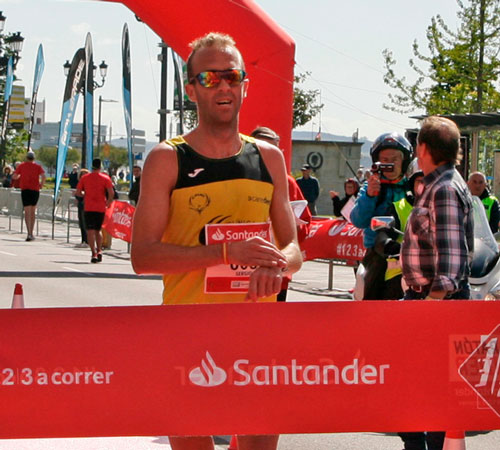 Sergio Sánchez y Margarita Fuentes-Pila, ganadores de la VIII edición de Medio Maratón de Santander