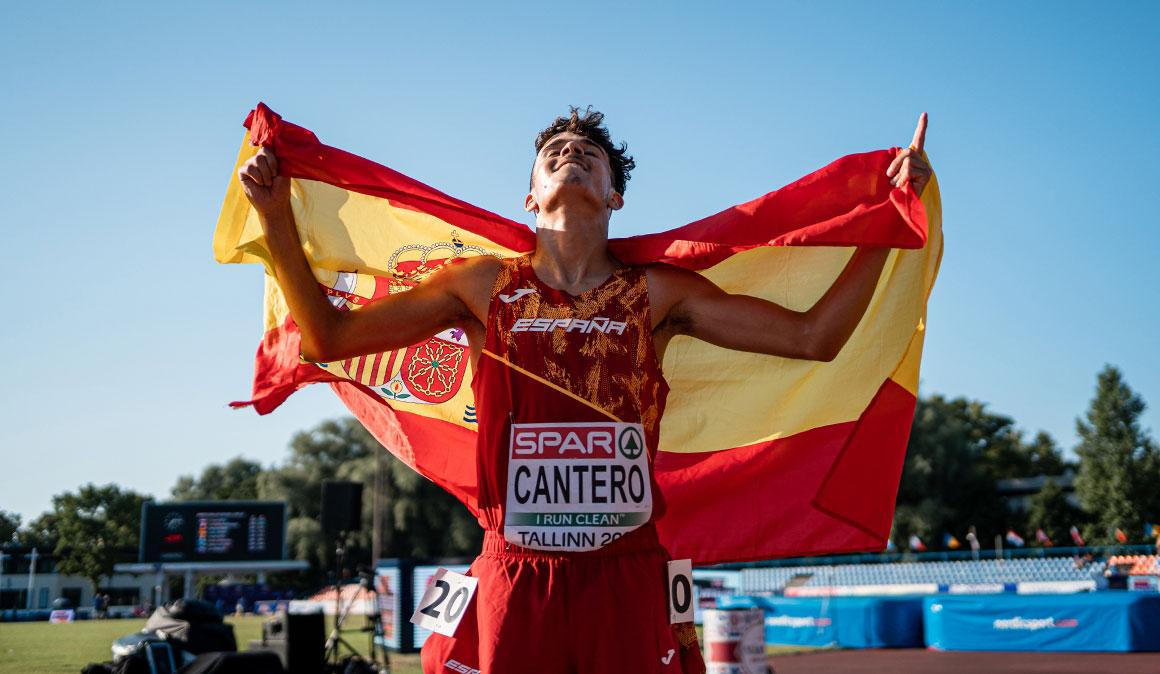 David Cantero, subcampeón de Europa sub-20 de 5.000 metros