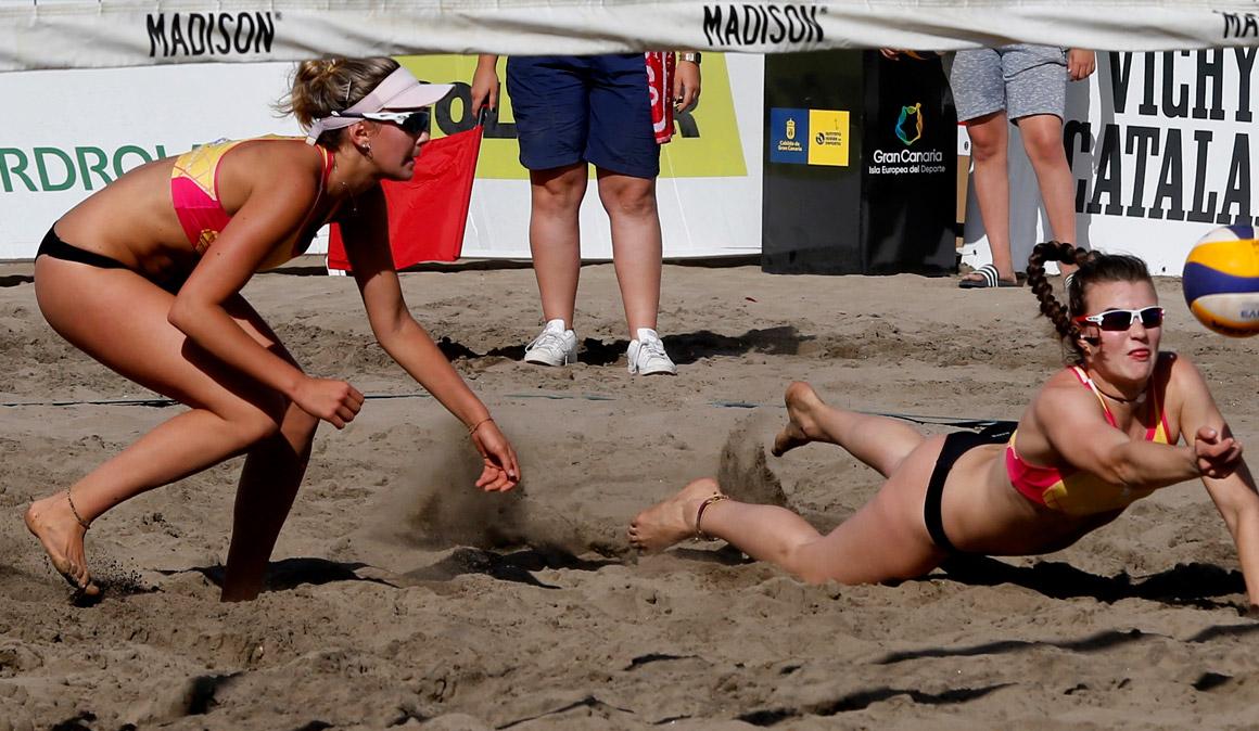 Tania Moreno y Daniela Álvarez conquistan la Copa de la Reina de voley playa