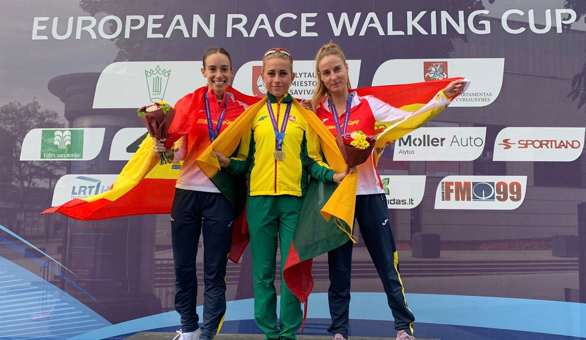 Laura García-Caro se cuelga la plata en la Copa de Europa de marcha