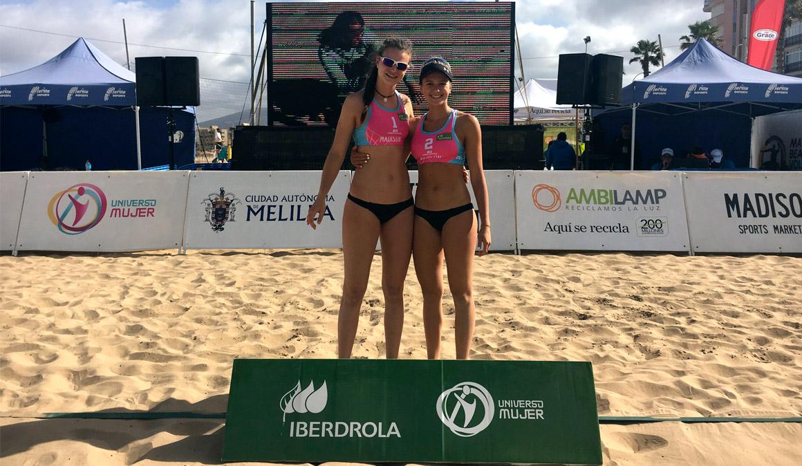 Tania Moreno y Daniela Álvarez, subcampeonas en el Melilla International Open