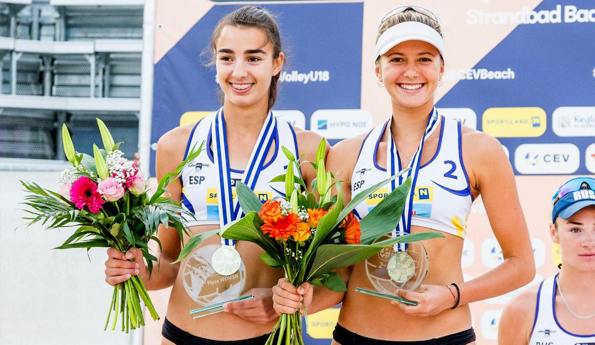 ¡Tania Moreno y Ana Vergara, subcampeonas de Europa sub-18 de voley playa!