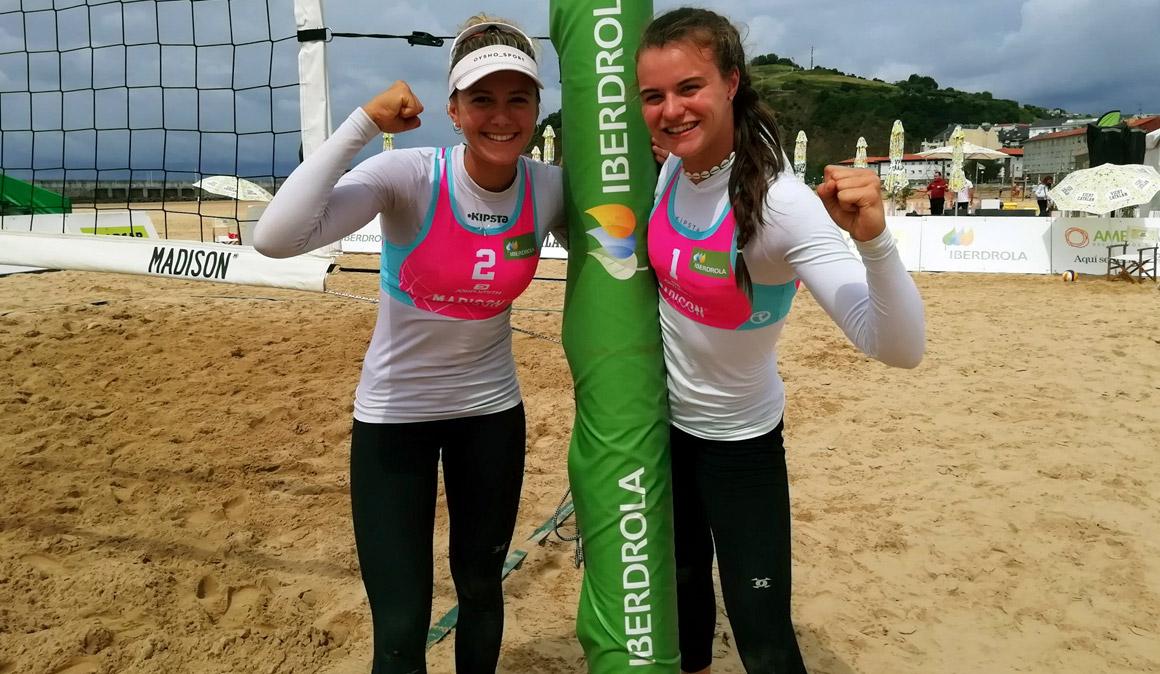 Tania Moreno y Daniela Álvarez suman en Laredo un nuevo subcampeonato en el Madison Beach Volley Tour