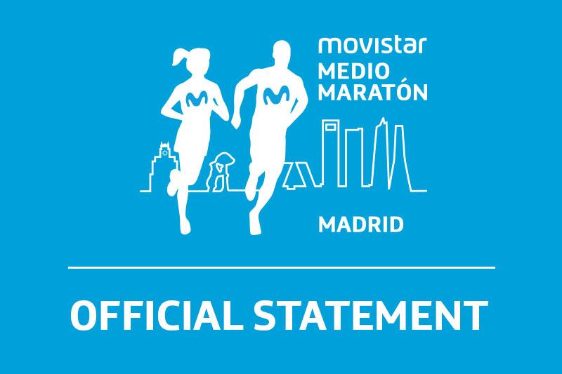 2020 Movistar Medio Maraton de Madrid and Carrera ProFuturo have been cancelled due to Coronavirus and safety concerns