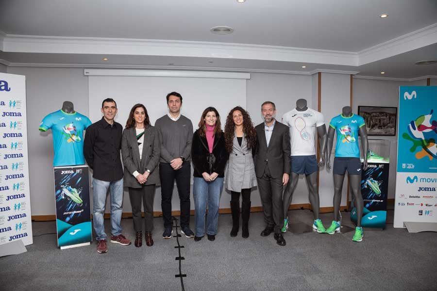 Presented the official Joma shirts of the Movistar Half Marathon of Madrid 2020 and the ProFuturo Race