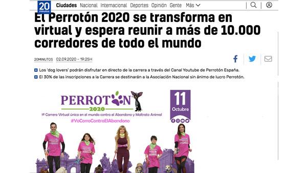 El Perrotón 2020 se transforma en virtual y espera reunir a más de 10.000 corredores de todo el mundo