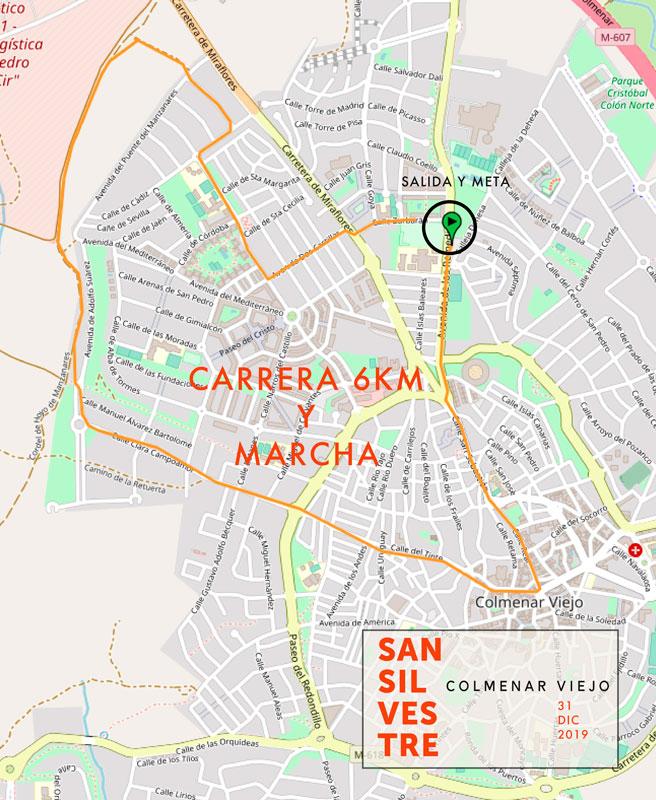 Recorrido 6km · Carrera y Marcha