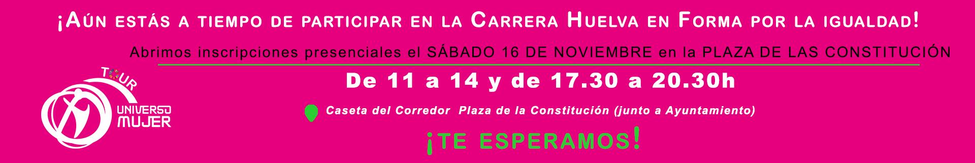 ¡Aún estás a tiempo de participar en la Carrera Huelva en Forma por la Igualdad!