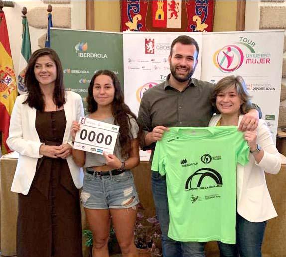 Ana Peix y Antonio Fernández 'Yiyo' apadrinan la Carrera 'Cáceres en Forma por la Igualdad'
