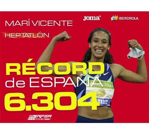 María Vicente, nuevo récord en heptatlón