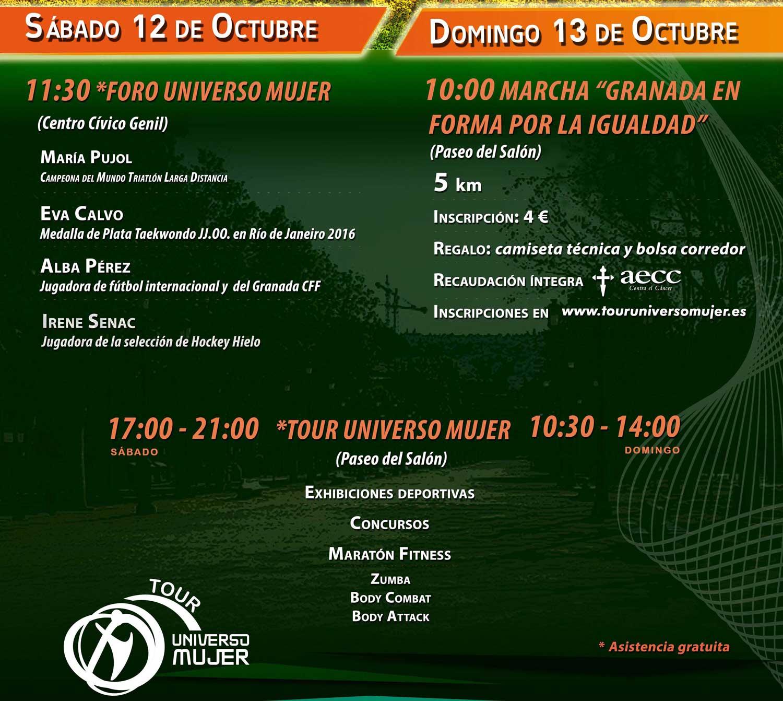 ¡Descubre las actividades y horarios del Tour Universo Mujer de Granada!