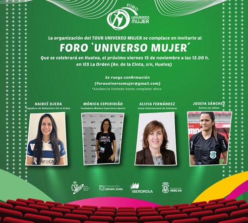 Confirmadas las ponentes del Foro Universo Mujer de Huelva