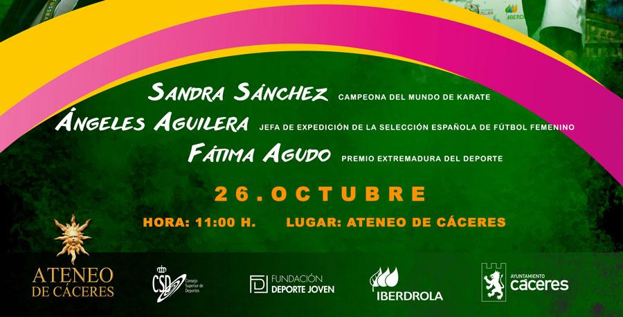 Sandra Sánchez, Ángeles Aguilera y Fátima Agudo en el Foro Universo Mujer
