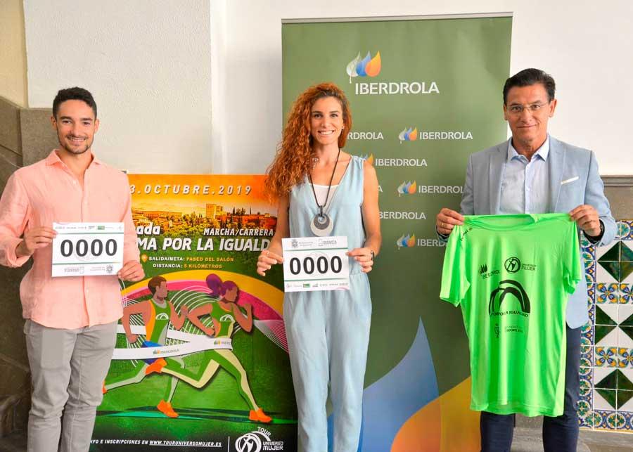 Ignacio Fontes y Laura Bueno estarán en la Carrera 'Granada en Forma por la Igualdad'