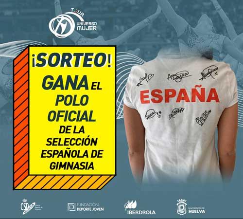 ¡Consigue el polo oficial de la selección española de gimnasia firmado!
