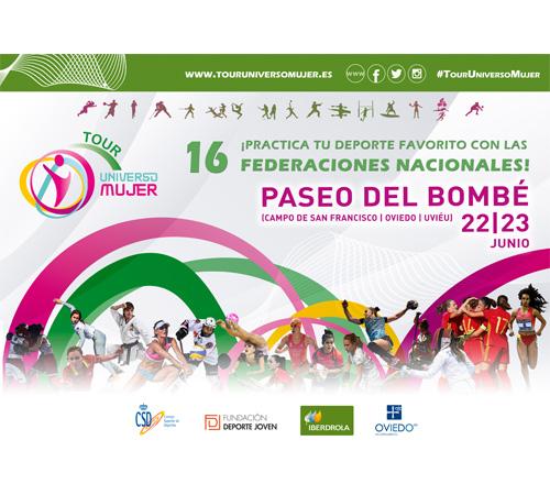 16 Federaciones deportivas participarán en el Tour Universo Mujer de Oviedo