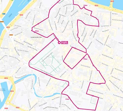 ¡Descubre el recorrido de la Carrera Pontevedra en forma por la igualdad!