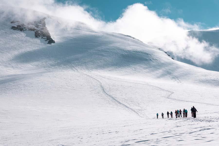 Ascensión al Breithorn (4.164 m) con Caro North