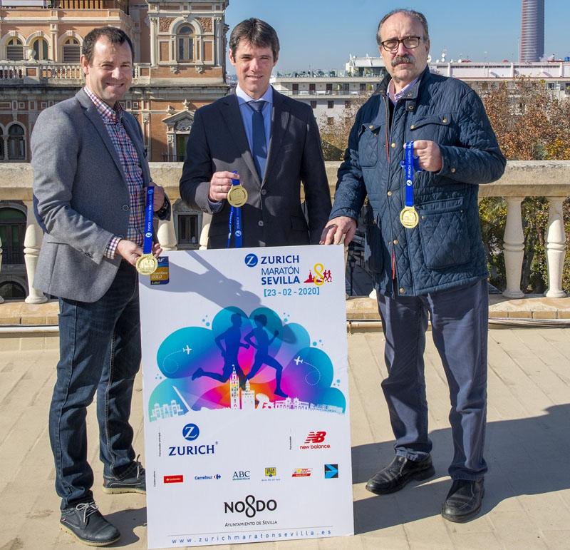 Presentados el cartel y la medalla Zurich Maratón de Sevilla