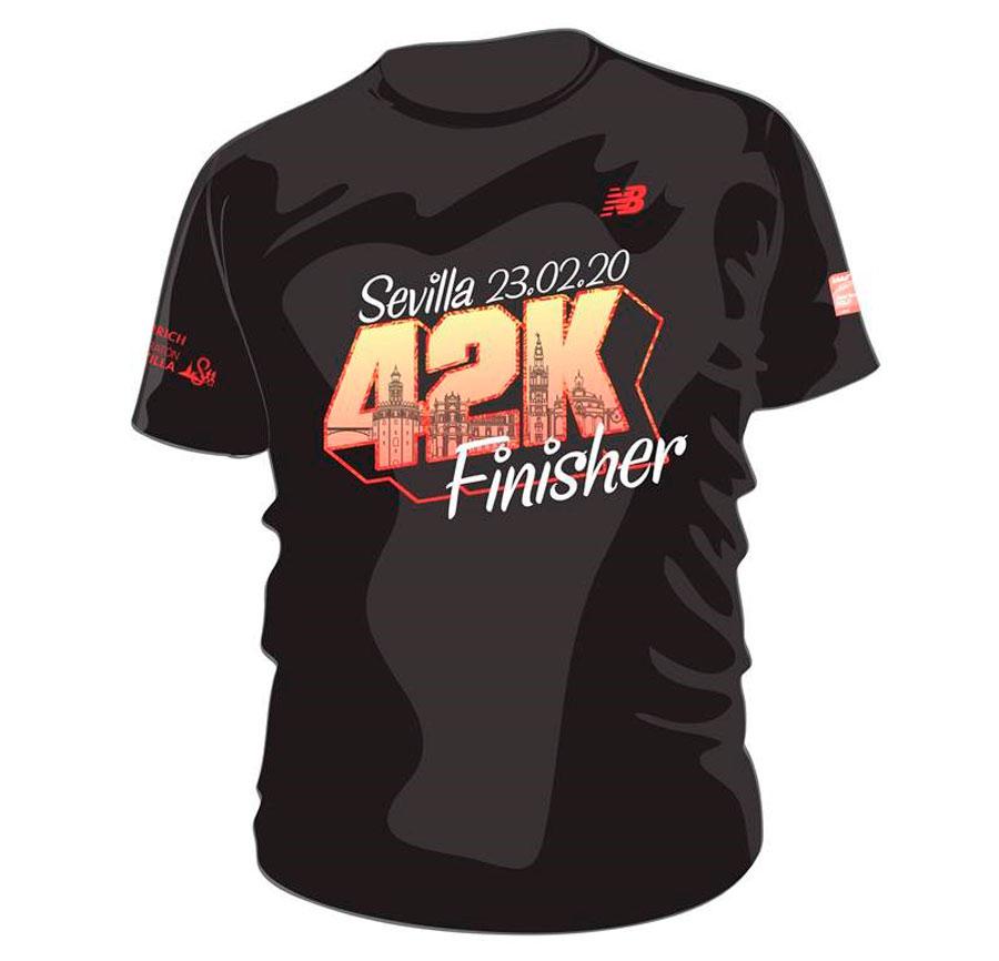 Todavía puedes reservar tu camiseta finisher del Zurich Maratón de Sevilla